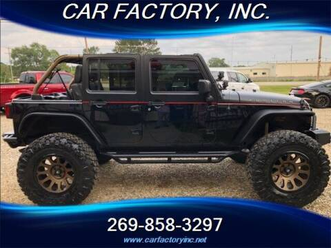 2016 Jeep Wrangler Unlimited for sale at Car Factory Inc. in Three Rivers MI