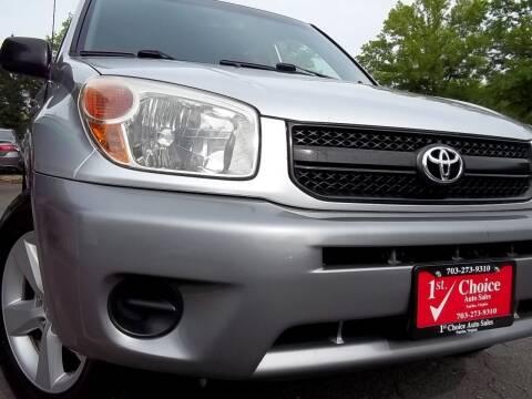 2004 Toyota RAV4 for sale at 1st Choice Auto Sales in Fairfax VA