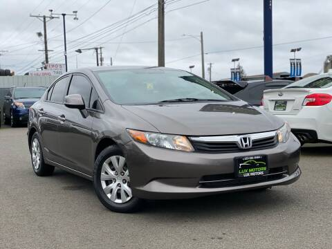2012 Honda Civic for sale at Lux Motors in Tacoma WA