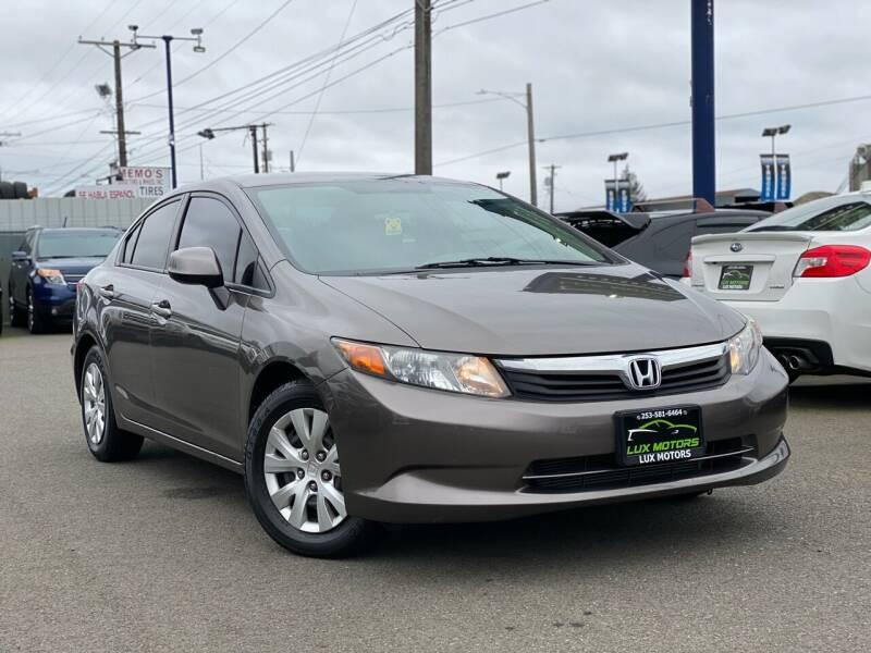 2012 Honda Civic for sale at Lux Motors in Tacoma WA