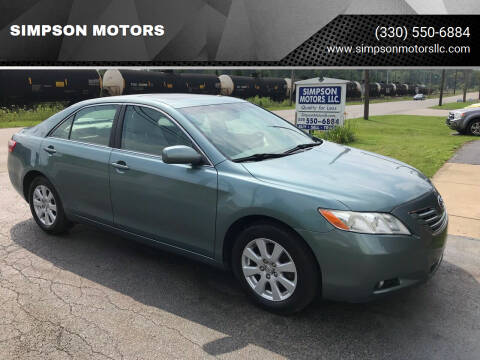 2009 Toyota Camry for sale at SIMPSON MOTORS in Youngstown OH
