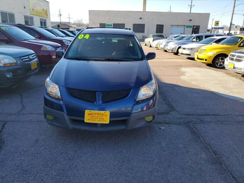 2004 Pontiac Vibe for sale at Brothers Used Cars Inc in Sioux City IA