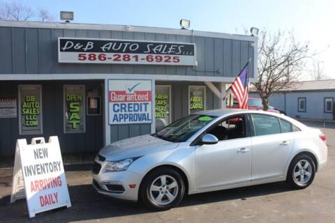2015 Chevrolet Cruze for sale at D & B Auto Sales LLC in Washington Township MI