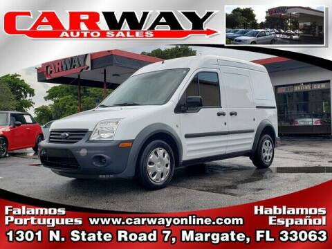 2012 Ford Transit Connect for sale at CARWAY Auto Sales in Margate FL