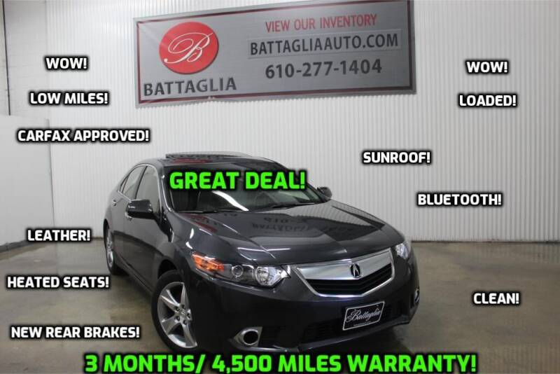 2013 Acura TSX for sale at Battaglia Auto Sales in Plymouth Meeting PA
