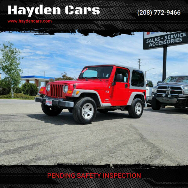 2005 Jeep Wrangler for sale at Hayden Cars in Coeur D Alene ID