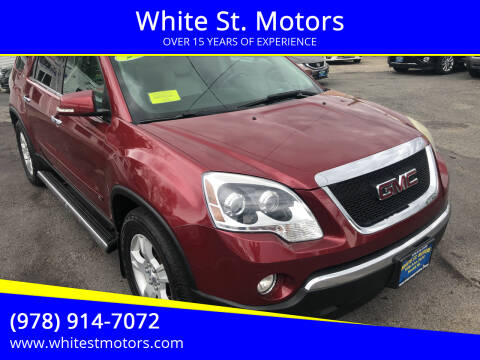 2009 GMC Acadia for sale at White St. Motors in Haverhill MA