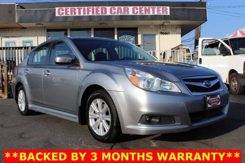 2010 Subaru Legacy for sale at CERTIFIED CAR CENTER in Fairfax VA