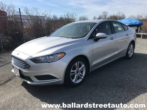 2018 Ford Fusion for sale at Ballard Street Auto in Saugus MA