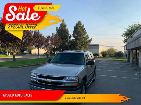 2005 Chevrolet Tahoe for sale at APOLLO AUTO SALES in Sacramento CA