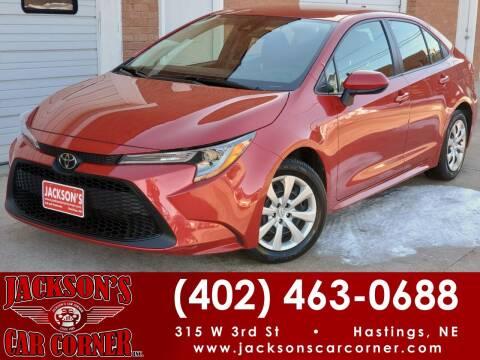 2020 Toyota Corolla for sale at Jacksons Car Corner Inc in Hastings NE