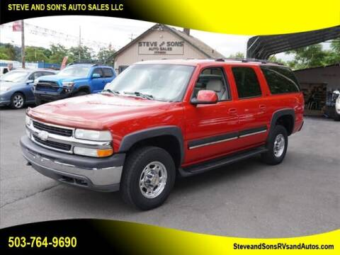2001 Chevrolet Suburban for sale at Steve & Sons Auto Sales in Happy Valley OR