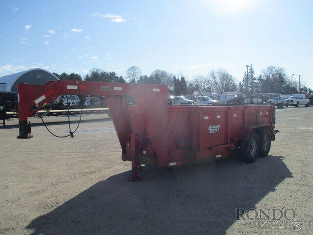 2006 Trailer Gooseneck Dump Baker Built BP1 for sale at Rondo Truck & Trailer in Sycamore IL