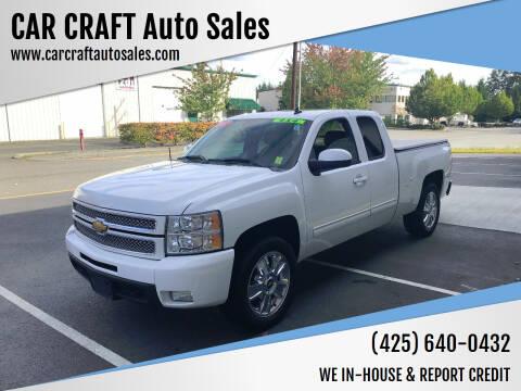 2012 Chevrolet Silverado 1500 for sale at Car Craft Auto Sales Inc in Lynnwood WA