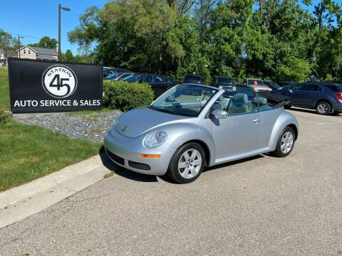 2007 Volkswagen New Beetle Convertible for sale at Station 45 Auto Sales Inc in Allendale MI