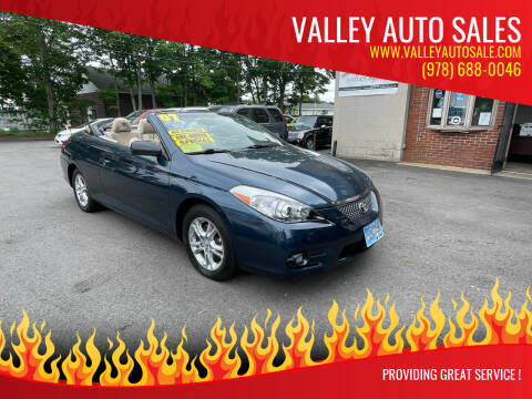 2007 Toyota Camry Solara for sale at VALLEY AUTO SALES in Methuen MA