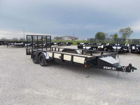 2021 Rice Trailers Ta Pipe Top Rail