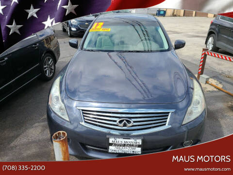 2012 Infiniti G37 Sedan for sale at MAUS MOTORS in Hazel Crest IL
