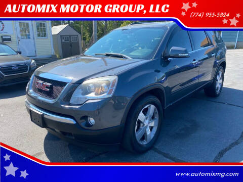 2012 GMC Acadia for sale at AUTOMIX MOTOR GROUP, LLC in Swansea MA