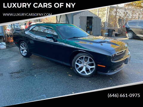 2016 Dodge Challenger for sale at LUXURY CARS OF NY in Queens NY