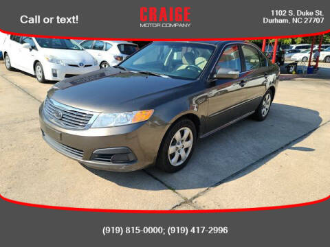 2009 Kia Optima for sale at CRAIGE MOTOR CO in Durham NC