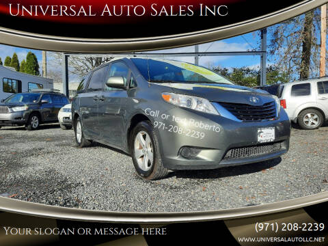 2012 Toyota Sienna for sale at Universal Auto Sales Inc in Salem OR