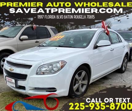 2012 Chevrolet Malibu for sale at Premier Auto Wholesale in Baton Rouge LA