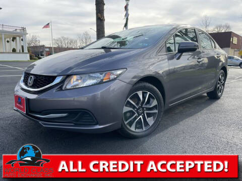 2015 Honda Civic for sale at World Class Auto Exchange in Lansdowne PA