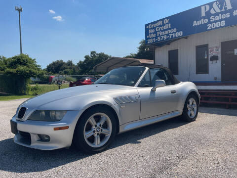 2000 BMW Z3 for sale at P & A AUTO SALES in Houston TX