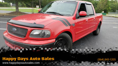 2001 Ford F-150 for sale at Happy Days Auto Sales in Piedmont SC