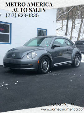 2012 Volkswagen Beetle for sale at METRO AMERICA AUTO SALES of Lebanon in Lebanon PA