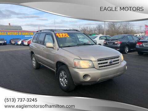 2004 Toyota Highlander for sale at Eagle Motors in Hamilton OH