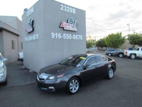 2012 Acura TL for sale at LIONS AUTO SALES in Sacramento CA