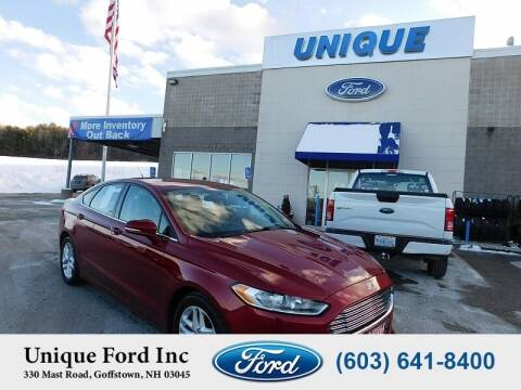 2013 Ford Fusion for sale at Unique Motors of Chicopee - Unique Ford in Goffstown NH