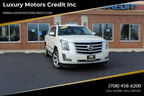 2015 Cadillac Escalade ESV for sale at Luxury Motors Credit Inc in Bridgeview IL