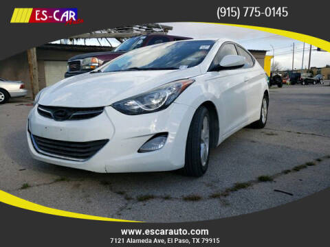 2013 Hyundai Elantra for sale at Escar Auto - 9809 Montana Ave Lot in El Paso TX