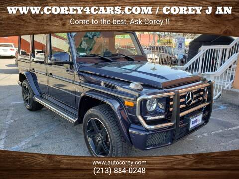2017 Mercedes-Benz G-Class for sale at WWW.COREY4CARS.COM / COREY J AN in Los Angeles CA