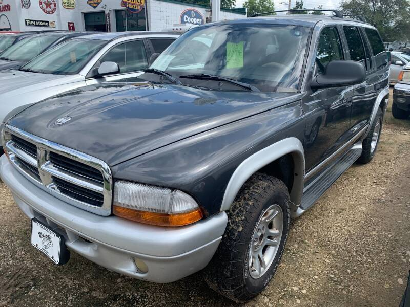2003 Dodge Durango for sale at Nelson's Straightline Auto - 23923 Burrows Rd in Independence WI