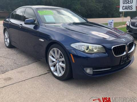 2011 BMW 5 Series for sale at VSA MotorCars in Cypress TX