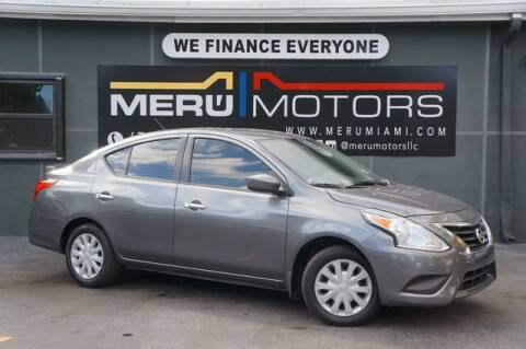 2017 Nissan Versa for sale at Meru Motors in Hollywood FL