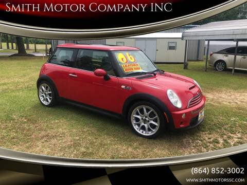2006 MINI Cooper for sale at Smith Motor Company INC in Mc Cormick SC