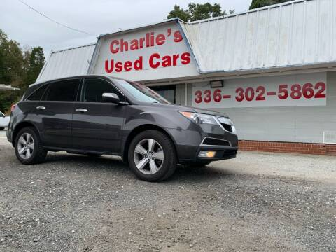 2011 Acura MDX for sale at Charlie's Used Cars in Thomasville NC
