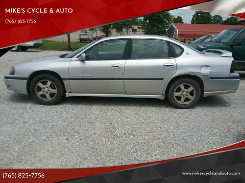 2003 Chevrolet Impala for sale at MIKE'S CYCLE & AUTO in Connersville IN