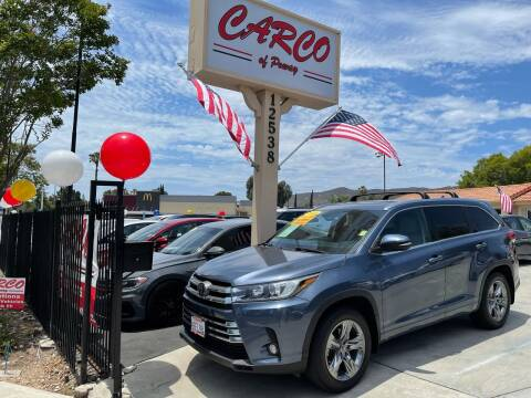 2018 Toyota Highlander for sale at CARCO SALES & FINANCE - CARCO OF POWAY in Poway CA