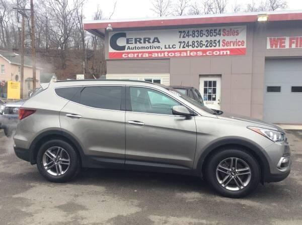 2017 Hyundai Santa Fe Sport for sale at Cerra Automotive LLC in Greensburg PA