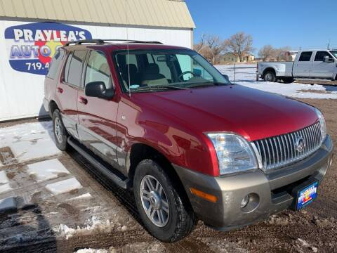 2003 Mercury Mountaineer for sale at Praylea's Auto Sales in Peyton CO
