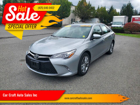 2015 Toyota Camry for sale at Car Craft Auto Sales Inc in Lynnwood WA