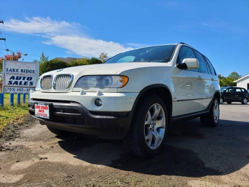 2003 BMW X5 for sale at Lake Ridge Auto Sales in Woodbridge VA