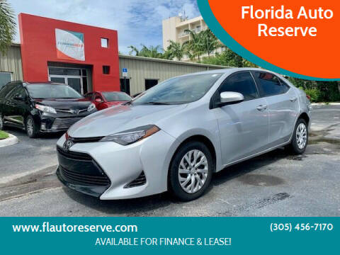 2017 Toyota Corolla for sale at Florida Auto Reserve in Medley FL