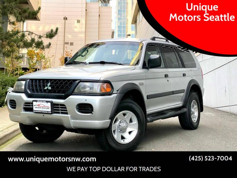 2003 Mitsubishi Montero Sport for sale at Unique Motors Seattle in Bellevue WA